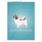 Papillon - Happy Birthday Card