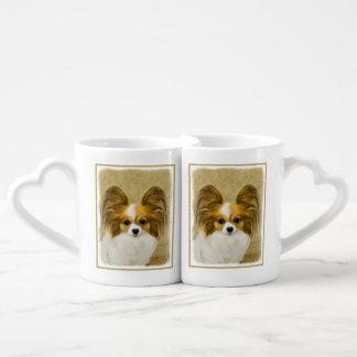 Papillon (Hound Tri Color) Coffee Mug Set
