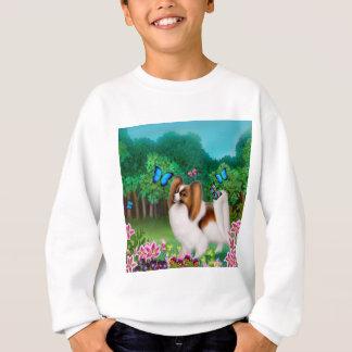 Papillon in Garden Kids Sweatshirt