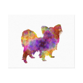 Papillon in watercolor canvas print