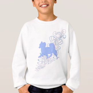 papillon lace sweatshirt