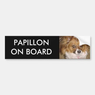 PAPILLON ON BOARD Bumper Sticker
