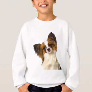 Papillon puppy Isolated on editable Background Pil Sweatshirt