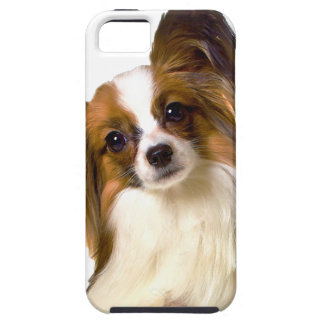 Papillon puppy Isolated on editable Background Pil Tough iPhone 5 Case
