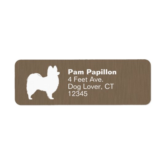 Papillon Silhouette Return Address Label