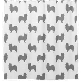 Papillon Silhouettes Pattern Shower Curtain