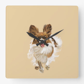 Papillon Square Wall Clock