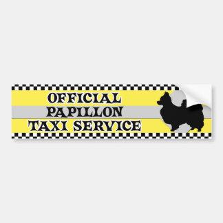 Papillon Taxi Service Bumper Sticker
