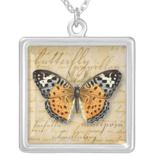 Papillon Words Necklace