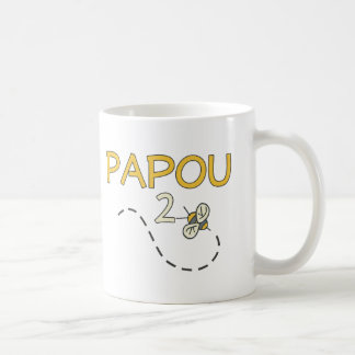 Papou 2 Bee Basic White Mug