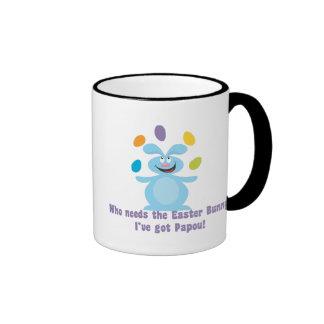 Papou is My Easter Bunny Ringer Mug