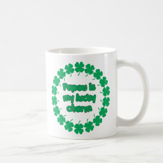 Papou is My Lucky Charm Basic White Mug