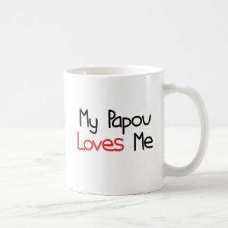 Papou Loves Me Basic White Mug