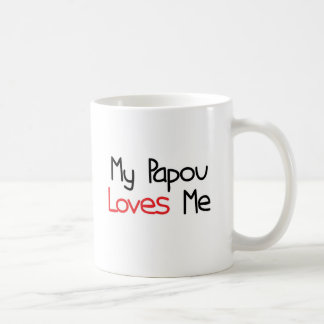Papou Loves Me Coffee Mugs