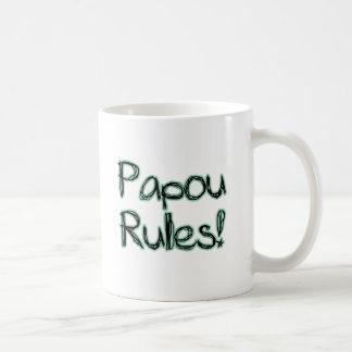 Papou Rules! Basic White Mug