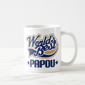 Papou Worlds Best Basic White Mug