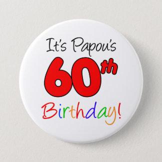Papou's 60th Birthday Party Greek Grandpa Button