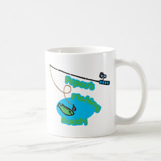 Papou's Fishing Buddy Basic White Mug