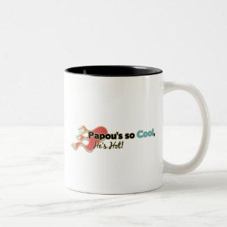 Papou's So Cool He's Hot Two-Tone Coffee Mug