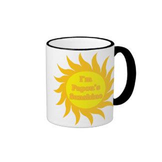 Papou's Sunshine Ringer Mug