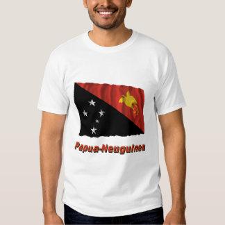 Papua-Neuguinea Fliegende Flagge mit Namen T-shirts