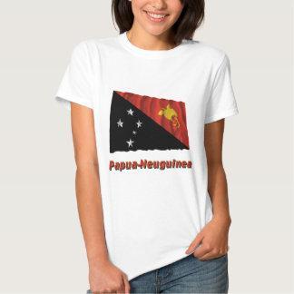 Papua-Neuguinea Fliegende Flagge mit Namen Shirt