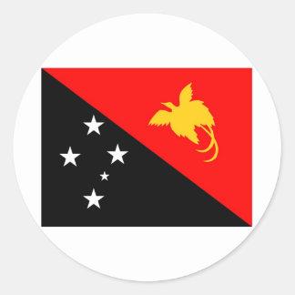 Papua New Guinea Classic Round Sticker