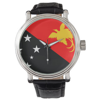 Papua New Guinea country flag nation symbol Wrist Watches