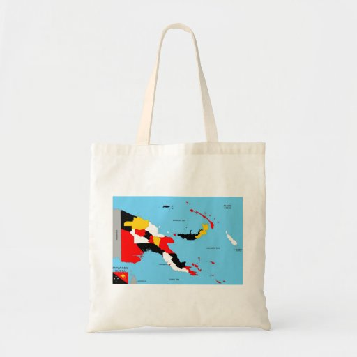 papua new guinea country political map flag tote bags