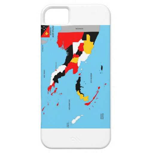 papua new guinea country political map flag iPhone 5 cover