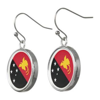 Papua New Guinea Flag Earrings