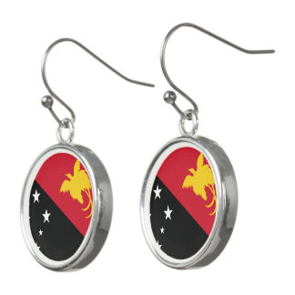 Papua New Guinea Flag Earrings