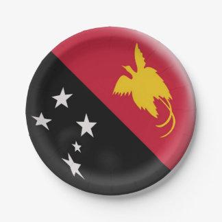 Papua New Guinea flag Paper Plate