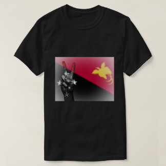 Papua New Guinea Flag Peace Sign - Patriotic T-Shirt