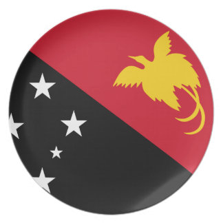Papua New Guinea Flag Plate