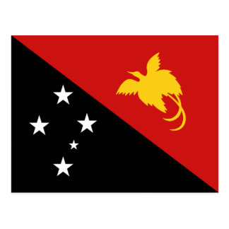 Papua New Guinea Flag Postcard