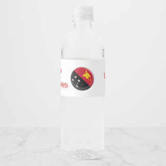 Papua New Guinea flag Water Bottle Label