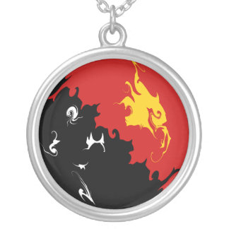 Papua New Guinea Gnarly Flag Personalized Necklace