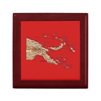 Papua New Guinea Map Gift Box
