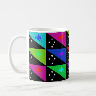 Papua New Guinea Multihue Flags Mug