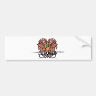 Papua New Guinea National Emblem Bumper Sticker