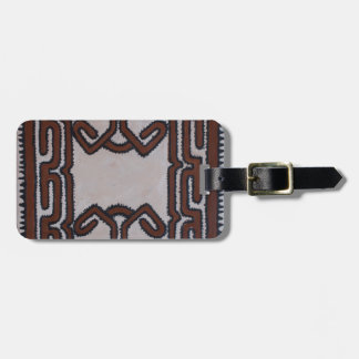 Papua New Guinea Tapa Cloth Luggage Tag