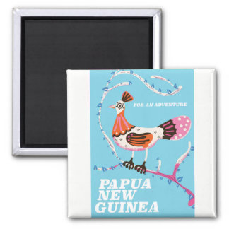 Papua New Guinea Travel poster Magnet
