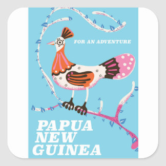 Papua New Guinea Travel poster Square Sticker