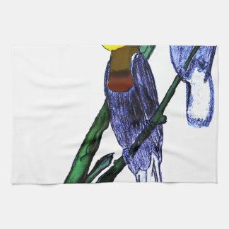 Papuan Hornbill Birds Tea Towel