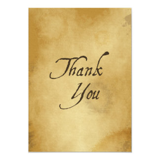 PAPYRUS PAPER THANK YOU HISTORIC EXPRESSIONS GRATI 13 CM X 18 CM INVITATION CARD