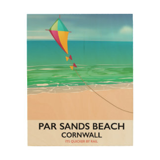 Par Sands Beach Cornwall beach travel poster