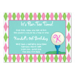 Par-Tee Time Girl Personalised Invites
