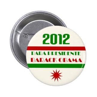 Para Presidente Barack Obama 2012 6 Cm Round Badge