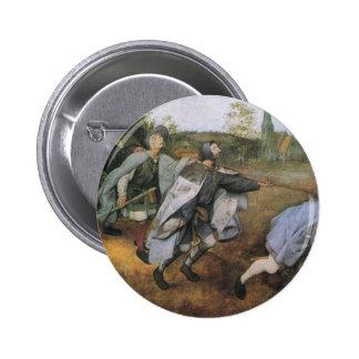 Parable of the Blind by Pieter Bruegel the Elder 6 Cm Round Badge